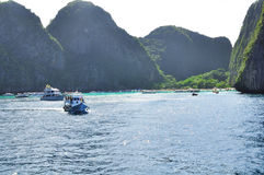 Изумительная природа и экзотическое назначение перемещения в острове Phi-Phi, Таиланде Стоковые Фото