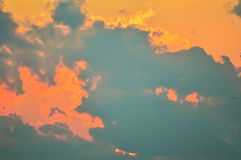 Изумительная съемка горящих небес в лете Стоковое Фото