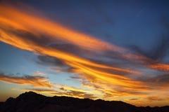 Изумительное небо на заходе солнца от пункта воодушевленности Стоковое Изображение RF