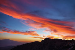 Изумительное небо на заходе солнца от пункта воодушевленности Стоковая Фотография