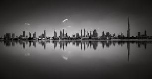 Изумительное солнечное отражение пляжа Jumeirah, Дубай, Объединенных эмиратов Стоковое Фото