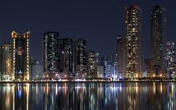 Изумительные башни на озерах воды Стоковые Изображения