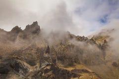 Изумительные взгляды вулканического ландшафта стоковые изображения