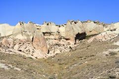 Изумительные геологохимические характеристики в Cappadocia стоковая фотография rf