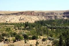 Изумительные геологохимические характеристики в Cappadocia стоковые фотографии rf