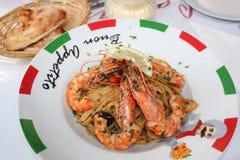 Изумительные морепродукты обедающего Стоковое Изображение RF