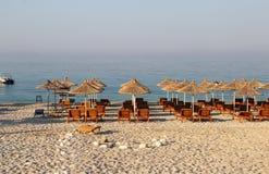 Изумительные пляжи Dhermi, Албании Стоковое фото RF