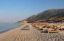 Изумительные пляжи Dhermi, Албании Стоковые Изображения RF