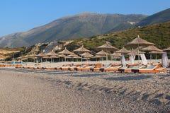 Изумительные пляжи Dhermi, Албании Стоковое Изображение