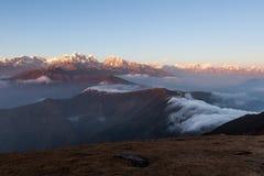 Изумительный ландшафт гор с красиво Стоковое Изображение RF
