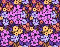Изумительный безшовный цветочный узор Стоковые Фотографии RF