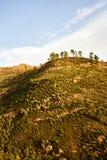 Изумительный взгляд горных пиков с красивыми облаками на заходе солнца Положение: Тенерифе, Канарские острова, Испания наконечник Стоковое фото RF