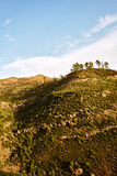 Изумительный взгляд горных пиков с красивыми облаками на заходе солнца Положение: Тенерифе, Канарские острова, Испания наконечник Стоковые Изображения