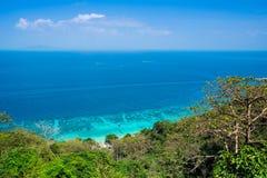 Изумительный взгляд красивого пляжа в Phi Дон Phi Koh krabi Таиланд Стоковая Фотография RF