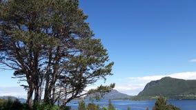 Изумительный взгляд над фьордом Стоковые Изображения RF