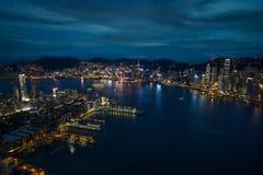 Изумительный горизонт Гонконга Стоковое Фото