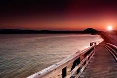 Изумительный заход солнца Стоковое фото RF