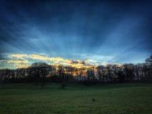изумительный заход солнца стоковая фотография