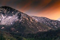 изумительный заход солнца Стоковые Изображения RF
