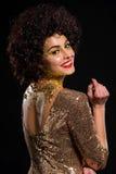 Изумительный золотой портрет Стоковое Фото