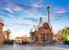 Изумительный парк Guel в Барселоне стоковые изображения rf