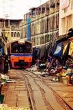 Изумительный поезд Стоковые Изображения RF