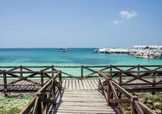 Пляж рая острова Стоковое Изображение