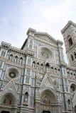 изумительн del базилики детализировало наземный ориентир maria florence fiore di экстерьера известный большинств ноча santa стоковая фотография