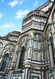 изумительн del базилики детализировало наземный ориентир maria florence fiore di экстерьера известный большинств ноча santa стоковые фотографии rf