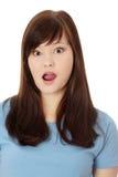 изумленная девушка предназначенная для подростков Стоковое фото RF
