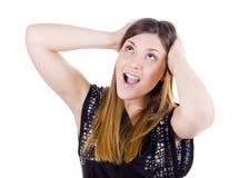 изумленная девушка счастливая Стоковая Фотография RF