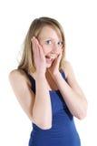 изумленная женщина Стоковое фото RF