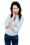 Изумленная молодая женщина Стоковая Фотография RF