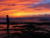 изумленный заход солнца стоковая фотография rf