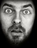 изумленный человек черной стороны изолированный Стоковое Изображение RF