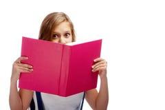 изумленный читатель Стоковые Изображения RF