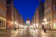 Изумляя архитектура старого городка в Гданьск на зоре, Польша стоковые фото