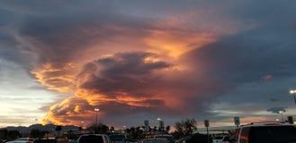 Изумляя взгляд захода солнца на Westside стоковая фотография rf