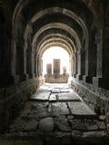 Изумляя взгляд на армянских старых перекрестных камнях, khacqars Комплекс монастыря Sanahin стоковые фото