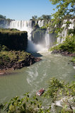 Изумляя водопад Iguassu Стоковые Изображения RF