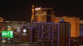 Изумляя Лас-Вегас к ноча - казино на прокладке - США 2017 сток-видео