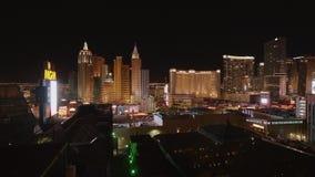 Изумляя Лас-Вегас к ноча - казино на прокладке - США 2017 акции видеоматериалы