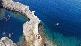 Изумляя море в Gozo сток-видео
