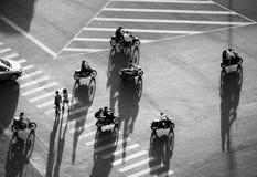 Изумляя сцена на улице на азиатском городе от высокого взгляда стоковые фото