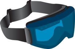 изумлённые взгляды катаются на лыжах подкрашивано Стоковые Фотографии RF