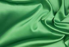 Изумрудный или зеленый шелк Стоковая Фотография