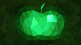 Изумруд яблока конспекта предпосылки триангулированием Стоковые Изображения RF