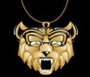 изумруд eyes тигр шкентеля золота Стоковое Изображение RF