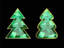 Изумрудная рождественская елка иллюстрация штока