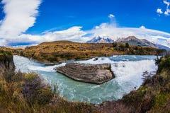 Изумрудное река Paine Стоковые Фото
